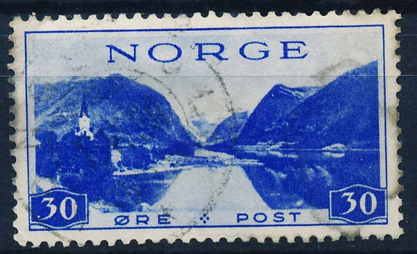 Norge Afa 203.  Stemplet